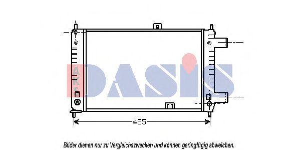 Радиатор, охлаждение двигателя AKS DASIS 150150N