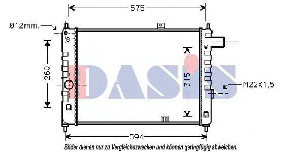 Радиатор, охлаждение двигателя AKS DASIS 150200N
