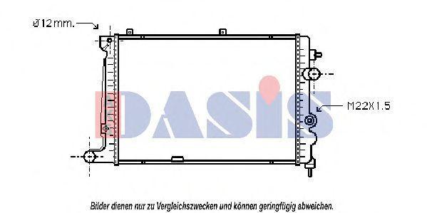 Радиатор, охлаждение двигателя AKS DASIS 150210N