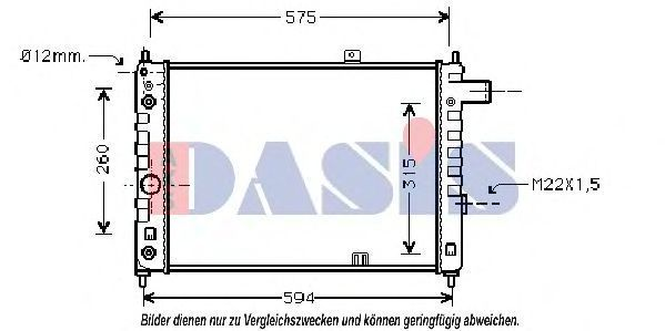 Радиатор, охлаждение двигателя AKS DASIS 150220N