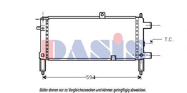 Радиатор, охлаждение двигателя AKS DASIS 150230N