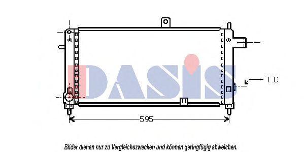 Радиатор, охлаждение двигателя AKS DASIS 150240N