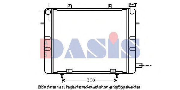 Радиатор, охлаждение двигателя AKS DASIS 150250N