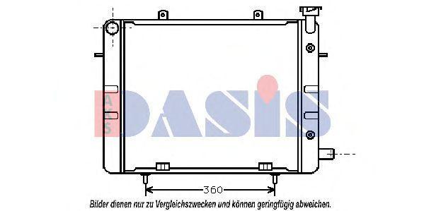 Радиатор, охлаждение двигателя AKS DASIS 150260N