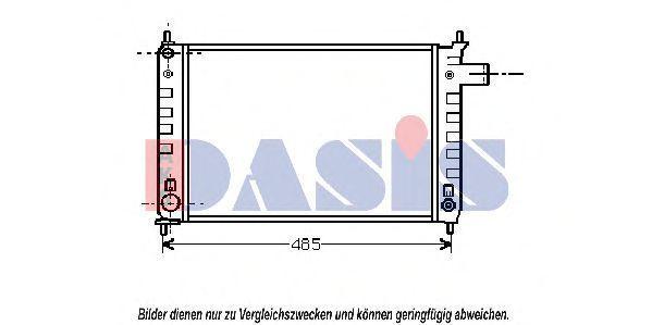 Радиатор, охлаждение двигателя AKS DASIS 150270N