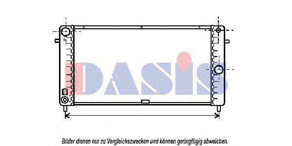 Радиатор, охлаждение двигателя AKS DASIS 150340N