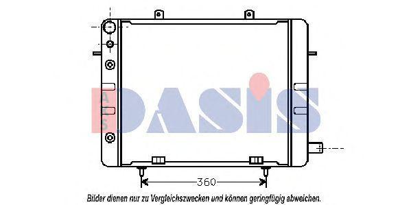 Радиатор, охлаждение двигателя AKS DASIS 150350N