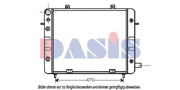 Радиатор, охлаждение двигателя AKS DASIS 150520N