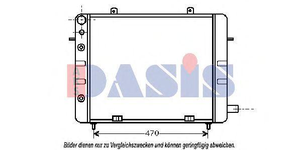 Радиатор, охлаждение двигателя AKS DASIS 150540N