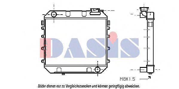 Радиатор, охлаждение двигателя AKS DASIS 150770N