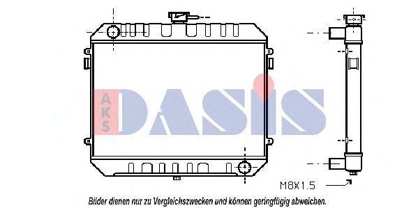 Радиатор, охлаждение двигателя AKS DASIS 150920N