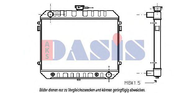 Радиатор, охлаждение двигателя AKS DASIS 150930N