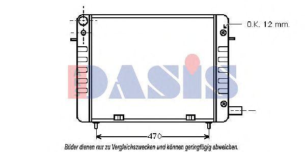 Радиатор, охлаждение двигателя AKS DASIS 150960N