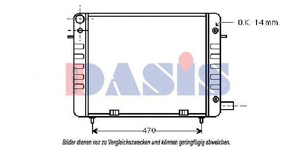 Радиатор, охлаждение двигателя AKS DASIS 150970N