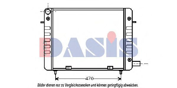 Радиатор, охлаждение двигателя AKS DASIS 150980N