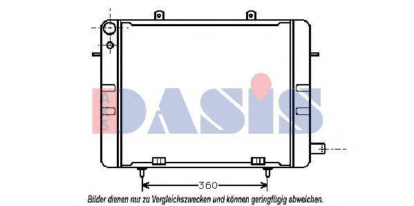 Радиатор, охлаждение двигателя AKS DASIS 151100N