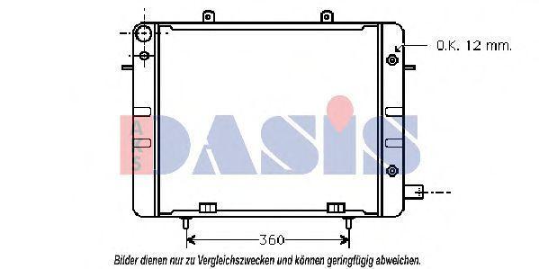 Радиатор, охлаждение двигателя AKS DASIS 151120N