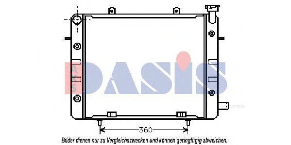 Радиатор, охлаждение двигателя AKS DASIS 151350N