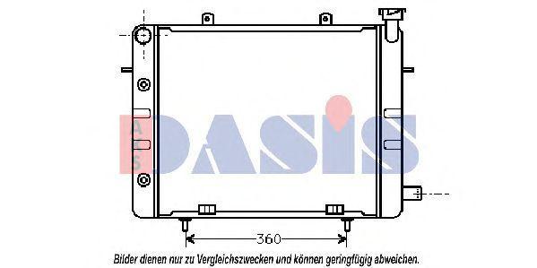 Радиатор, охлаждение двигателя AKS DASIS 151360N