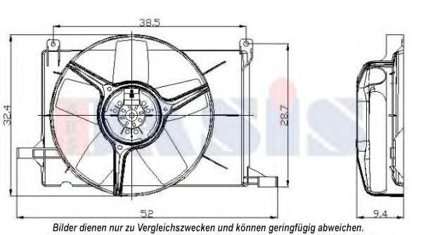 Вентилятор, охлаждение двигателя AKS DASIS 158024N