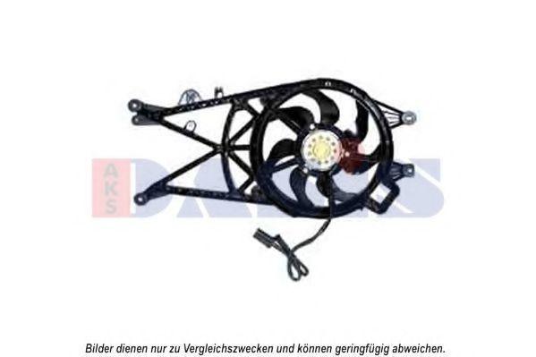 Вентилятор, охлаждение двигателя AKS DASIS 158053N