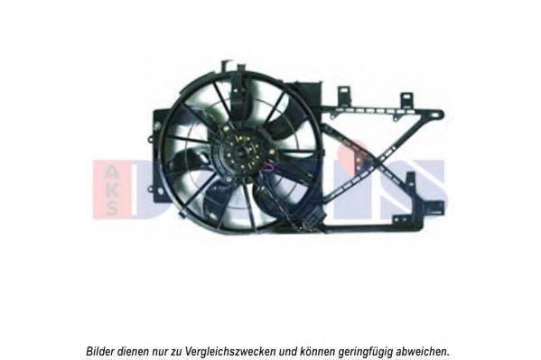 Вентилятор, охлаждение двигателя AKS DASIS 158055N