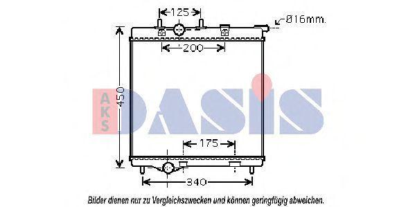 Радиатор, охлаждение двигателя AKS DASIS 160019N