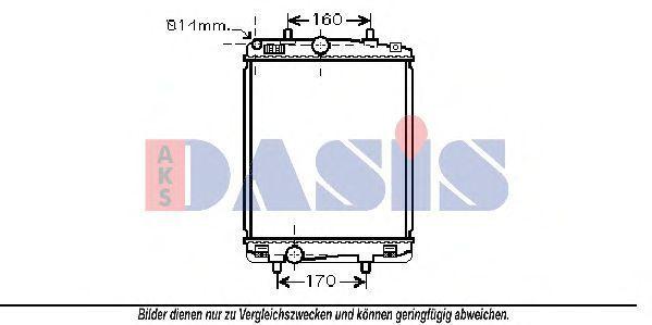 Радиатор, охлаждение двигателя AKS DASIS 160092N