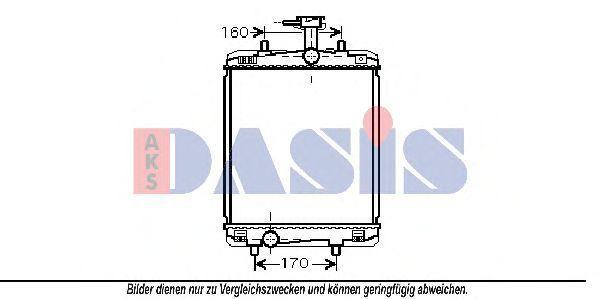 Радиатор, охлаждение двигателя AKS DASIS 160093N