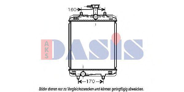 Радиатор, охлаждение двигателя AKS DASIS 160094N