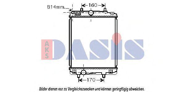 Радиатор, охлаждение двигателя AKS DASIS 160095N