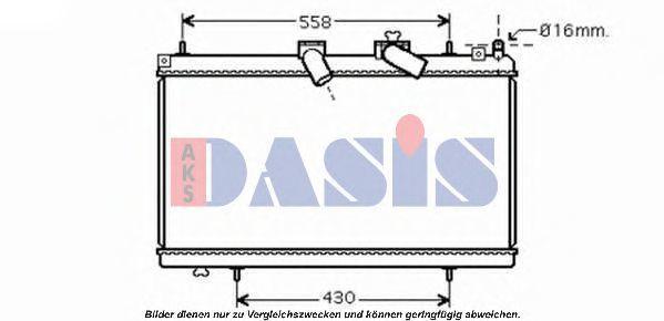 Радиатор, охлаждение двигателя AKS DASIS 160109N