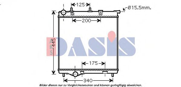 Радиатор, охлаждение двигателя AKS DASIS 160114N