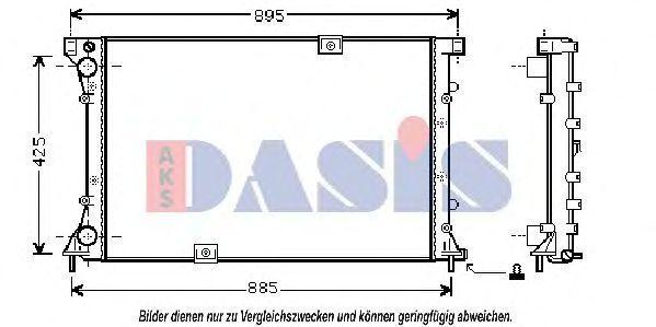 Радиатор, охлаждение двигателя AKS DASIS 180015N
