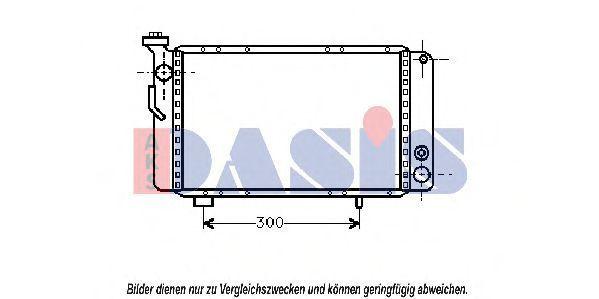 Радиатор, охлаждение двигателя AKS DASIS 180020N