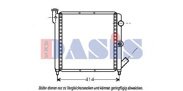 Радиатор, охлаждение двигателя AKS DASIS 180080N