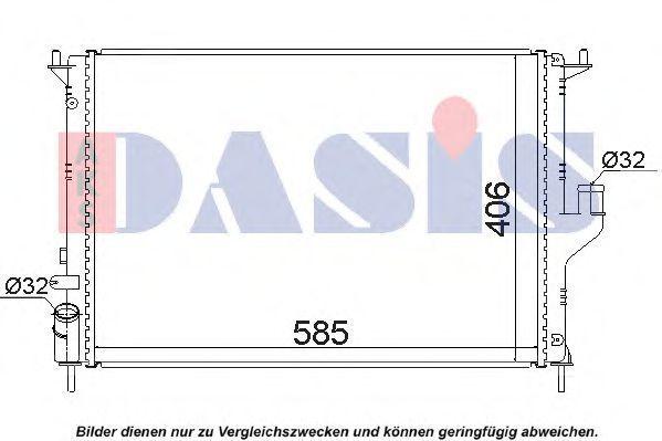 Радиатор, охлаждение двигателя AKS DASIS 180081N