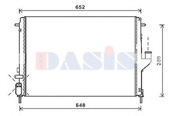 Радиатор, охлаждение двигателя AKS DASIS 180088N