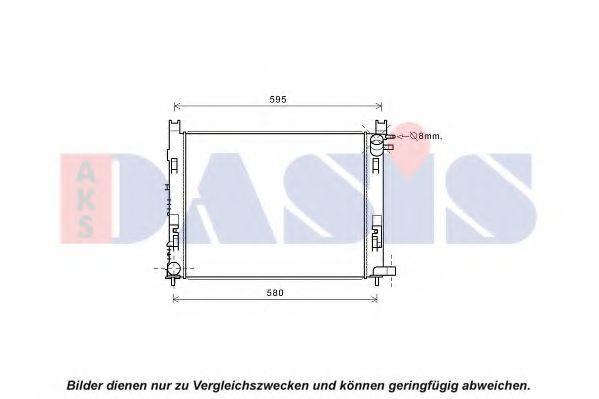 Радиатор, охлаждение двигателя AKS DASIS 180093N