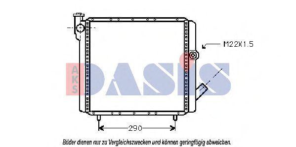 Радиатор, охлаждение двигателя AKS DASIS 180120N