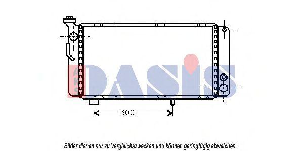 Радиатор, охлаждение двигателя AKS DASIS 180260N