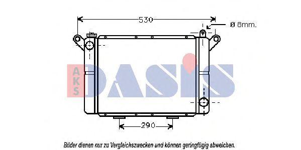 Радиатор, охлаждение двигателя AKS DASIS 181000N