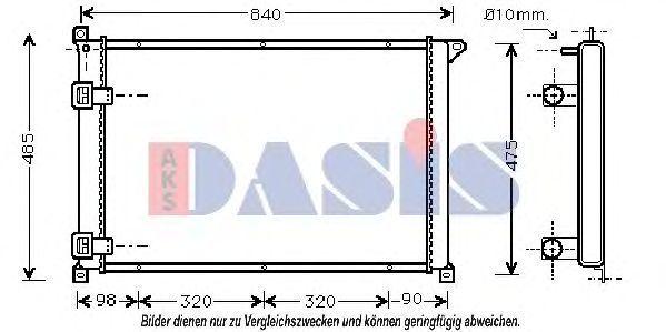 Радиатор, охлаждение двигателя AKS DASIS 181660N