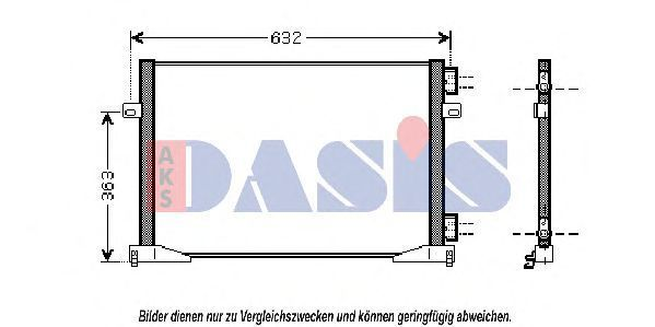 Конденсатор, кондиционер AKS DASIS 182016N