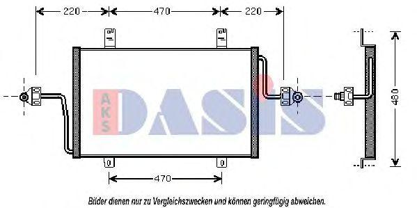 Конденсатор, кондиционер AKS DASIS 182450N