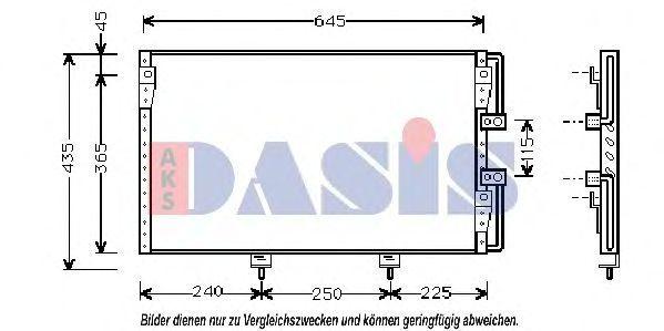 Конденсатор, кондиционер AKS DASIS 210065N