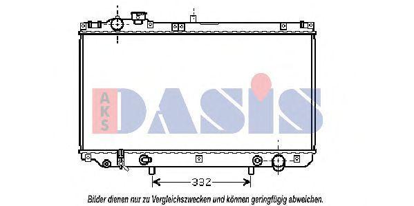 Радиатор, охлаждение двигателя AKS DASIS 210108N