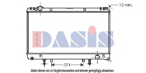 Радиатор, охлаждение двигателя AKS DASIS 210109N