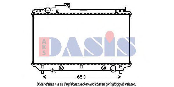 Радиатор, охлаждение двигателя AKS DASIS 210111N
