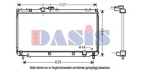 Радиатор, охлаждение двигателя AKS DASIS 210115N